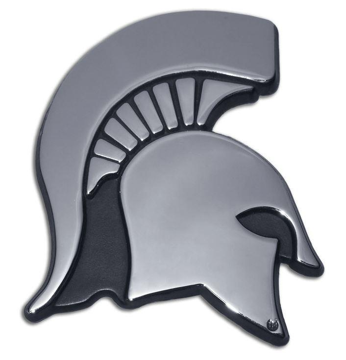 Michigan Chrome Spartan Head Emblem