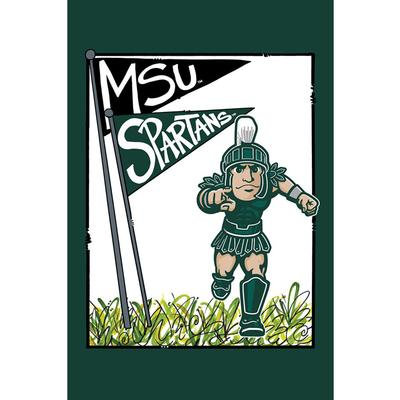Michigan State Spartans Garden Flag