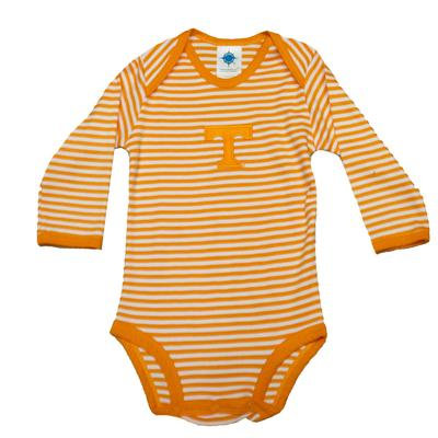 Tennessee Infant Long Sleeve Striped Body Suit