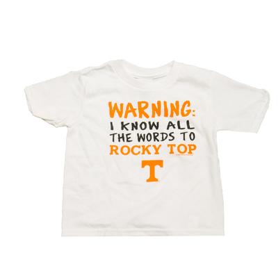 Tennessee Toddler Rocky Top Warning Tee