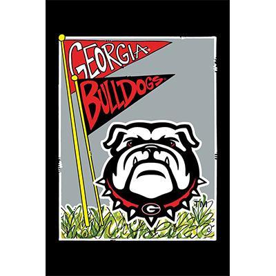 Georgia Mascot Garden Flag