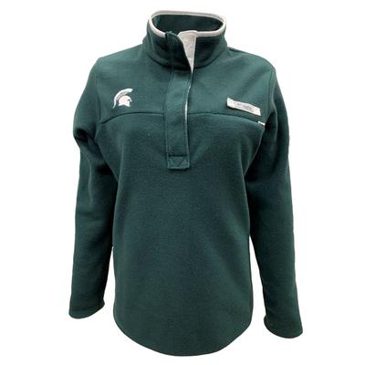 Michigan State Columbia Women's Harborside Fleece Pullover