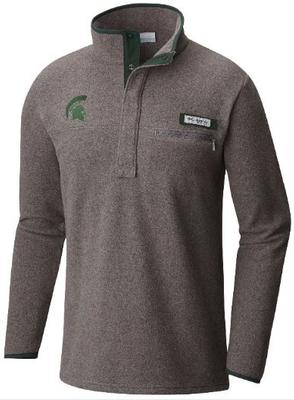 Michigan State Columbia Harborside Fleece Pullover CHARCOAL