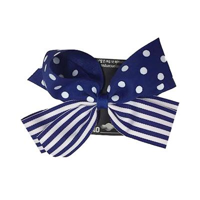 Blue and White Combo Bow