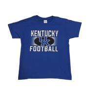 Kentucky Youth Straight Football Logo Tone Tee