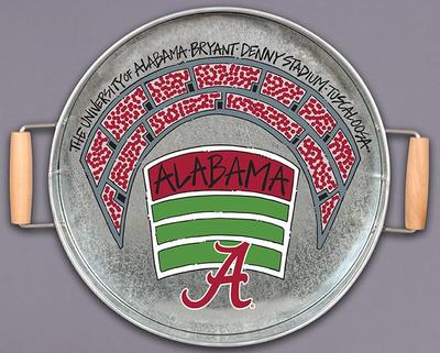 Alabama Magnolia Lane Metal Serving Tray
