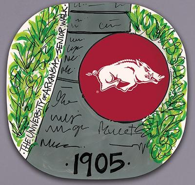 Arkansas Magnolia Lane Melamine Plate