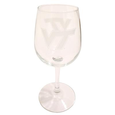 Virginia Tech 12 Oz. Etched Wine Glass