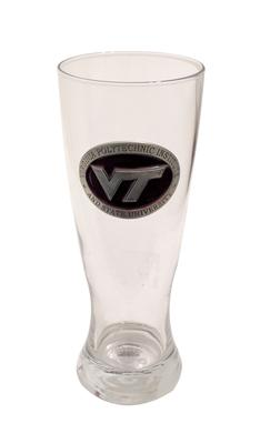 Virginia Tech Footed Pilsner Glass