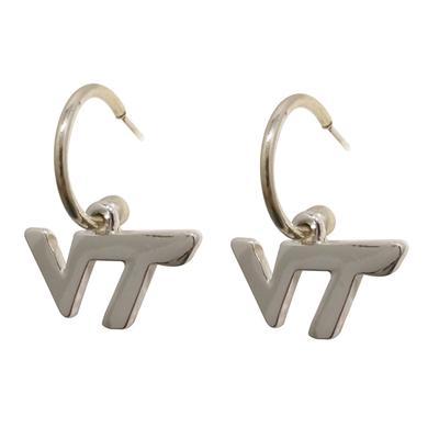 Virginia Tech Silver Earrings