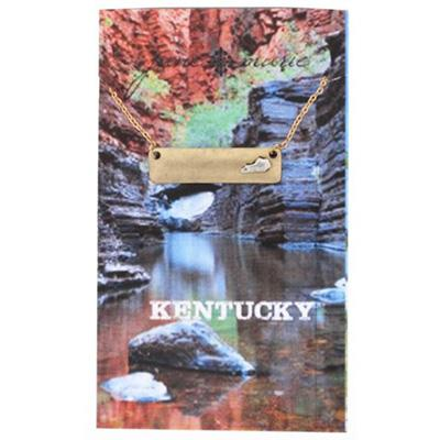 State of Kentucky Gold Bar Necklace