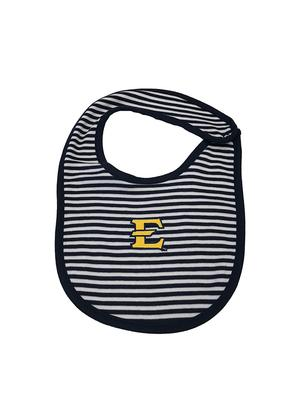 ETSU Infant Striped Bib