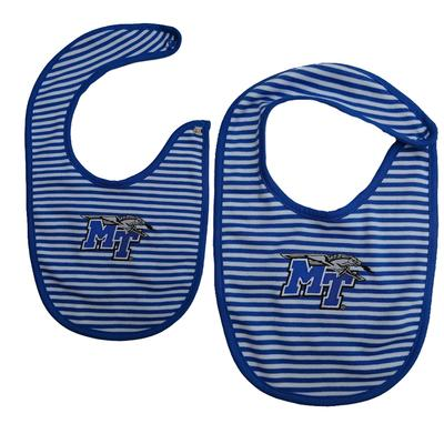 MTSU Infant Striped Bib
