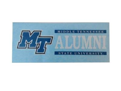 MTSU Block Letter Alumni Decal
