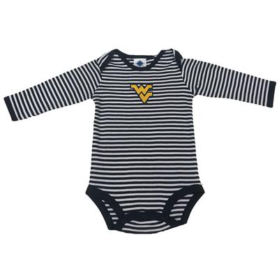 West Virginia Infant Striped Long Sleeve Body Suit
