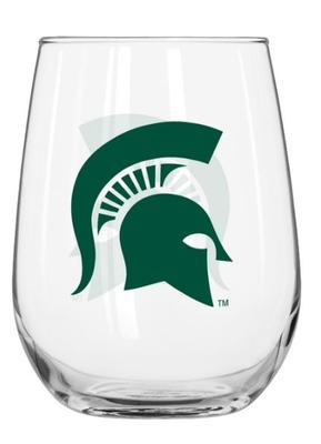 Michigan State 16oz Stemless Wine Glass