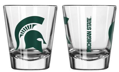 Michigan State 2oz Gameday Collectible Glass
