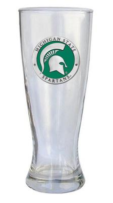 Michigan State Heritage Pewter Pilsner Glass