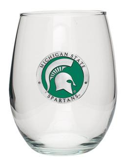Michigan State Heritage Pewter Stemless Goblet
