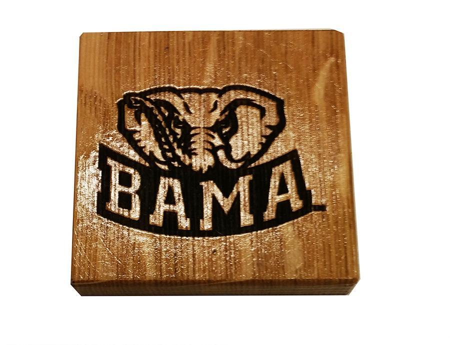 Alabama Timeless Etchings Elephant Coasters W/Bottle Opener