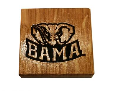 Alabama Timeless Etchings Elephant Coasters w/ Bottle Opener