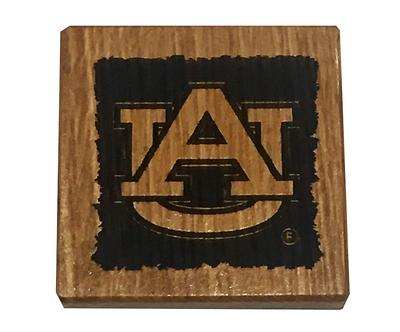 Auburn Timeless Etchings AU Logo Coasters w/ Bottle Opener