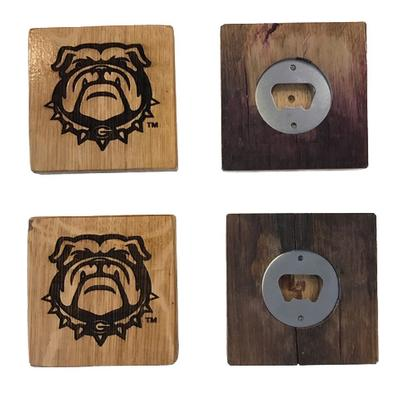 Georgia Timeless Etchings Power G Logo Coasters w/ Bottle Opener