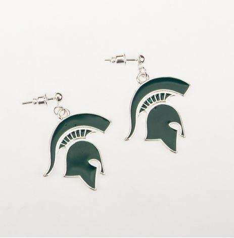 Michigan State Enamel Logo Earrings