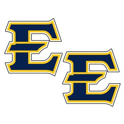ETSU E Logo Decal (2pk)