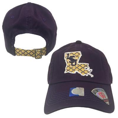 LSU Top of the World Women's Quatrefoil State Hat