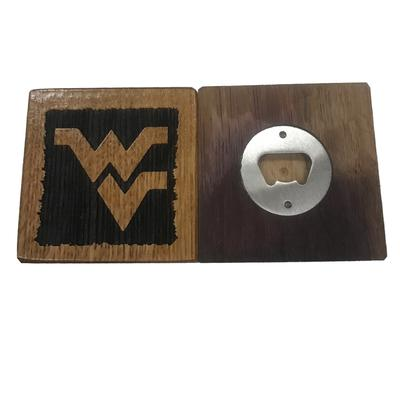 West Virginia Timeless Etchings WV Logo Coasters w/ Bottle Opener (4 pack)