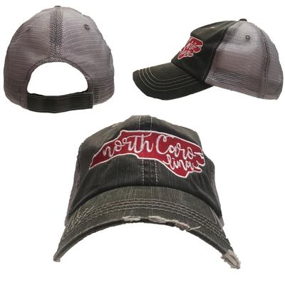 State of North Carolina Women's State Curl Trucker Cap