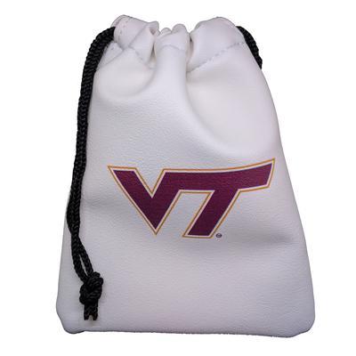 Virginia Tech Faux Leather Pouch