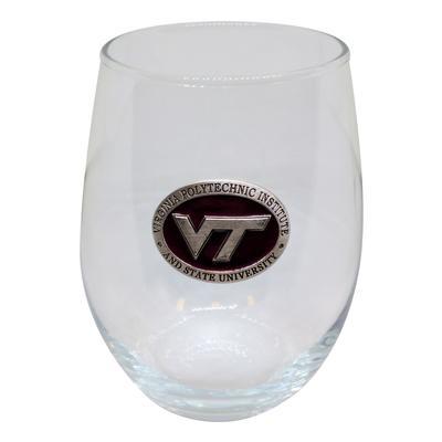 Virginia Tech Maroon VT Stemless Goblet