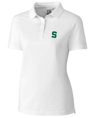Michigan State Cutter And Buck Women's Advantage DryTec Polo WHITE