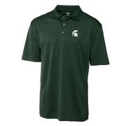 Michigan State Cutter And Buck Drytec Genre Polo