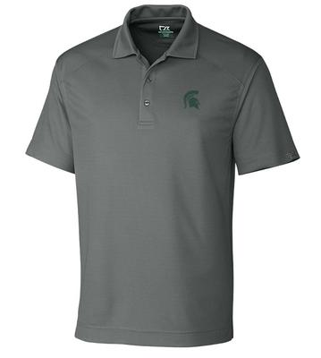 Michigan State Cutter And Buck DryTec Genre Polo ELEMENTAL_GREY