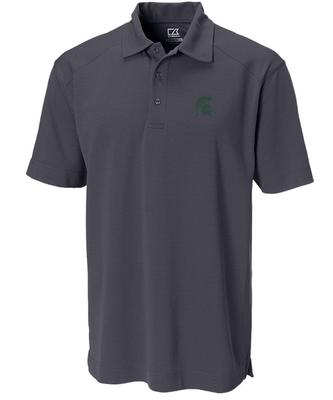 Michigan State Cutter And Buck DryTec Genre Polo ONYX