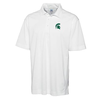 Michigan State Cutter And Buck DryTec Genre Polo WHITE