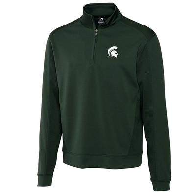 Michigan State Cutter And Buck DryTec Edge Half Zip Pullover