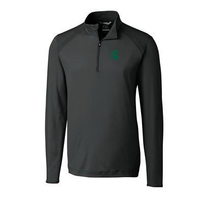 Michigan State Cutter And Buck Williams Half Zip Pullover