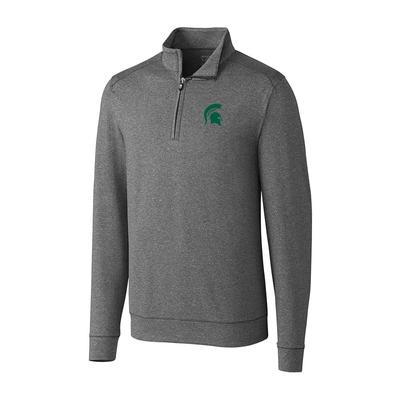 Michigan State Cutter & Buck Big And Tall Shoreline 1/2 Zip Pullover