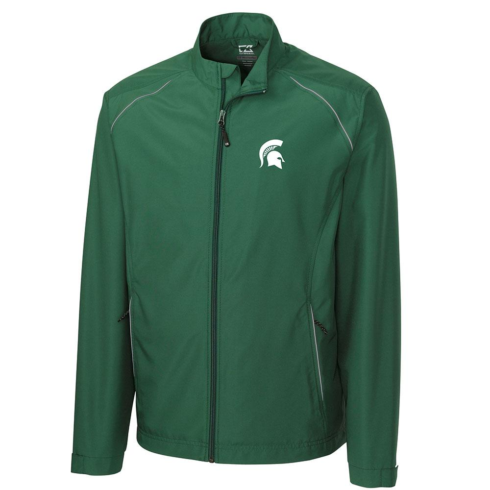 Michigan State Cutter And Buck Big And Tall Weathertec Beacon Full Zip Jacket