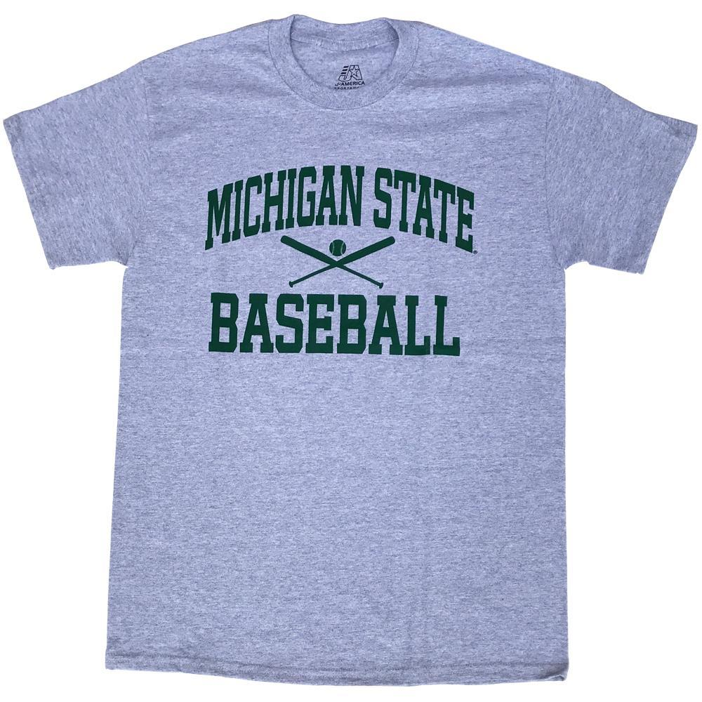 Michigan State Basic Baseball Tee
