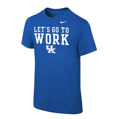 Kentucky Nike Youth Let's Go To Work Cotton Tee