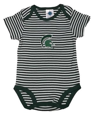 Michigan State Infant Striped Bodysuit