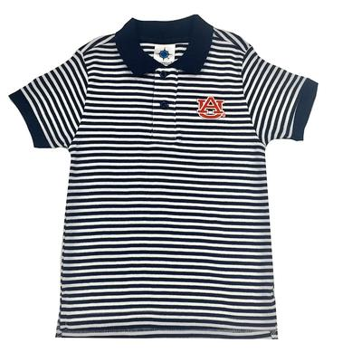 Auburn Toddler Striped Polo