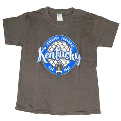 Kentucky Youth Circle Script Football Tee