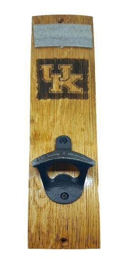 Kentucky Timeless Etching Uk Logo Mounted Bottle Opener