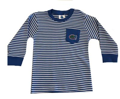 Florida Toddler Long Sleeve Stripe Pocket Tee